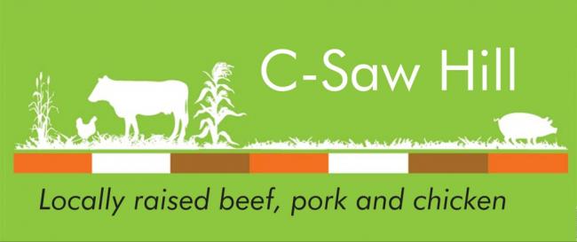 C-Saw Hill farm sign