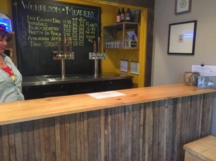 The tasting room at Wehrloom Honey.