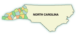 2020 counties in NC